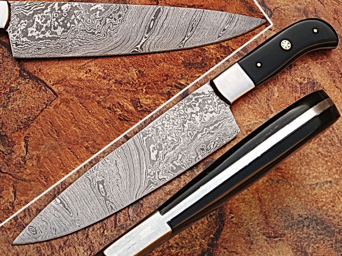 (ZE-0107-C) CUSTOM MADE DAMASCUS BLADE 7 Pc\'s. KITCHEN KNIVES SET